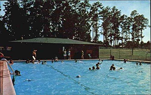 Free-Swim-At-Niwana-Woodville-Texas-Original-Vintage-Postcard