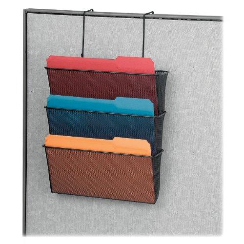 Fellowes Mesh Partition Additions Letter Size Black Triple File Pocket (75901