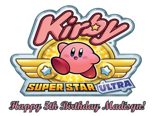 Single Source Party Supplies - Kirby Nintendo Edible Icing Image Cake Topper #2 8.25