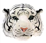 【2色展開】 デカ 顔 ぬいぐるみ のような アニマル リュック タイガー  大人用 (ホワイトタイガー)