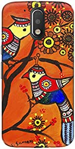 The Racoon Grip A pair of birds hard plastic printed back case/cover for Motorola Moto G Play 4th Gen
