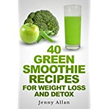 The book 40 Green Smoothie Recipes for Weight Loss and Detox is a collection of green smoothie recipes for those who seek an effective weight loss program that does not put a strain on their health. It is a great companion for dieters who want to los...