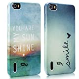 Tinxi® design 2pcs/lot TPU Protective for Huawei Honor 6 Case Skin Silicone Cover Case Bag shell sunshine and smile