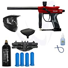 Buy Spyder 2013 Fenix Electronic Paintball Marker Gun SWAT Package - Hot Red by Spyder Kingman