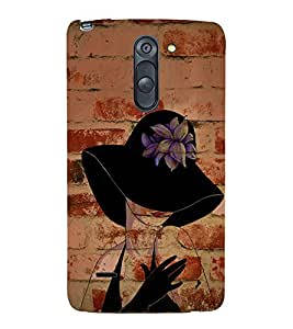 Wall Bricks Art Girl 3D Hard Polycarbonate Designer Back Case Cover for LG G3 Stylus :: LG G3 Stylus D690N :: LG G3 Stylus D690