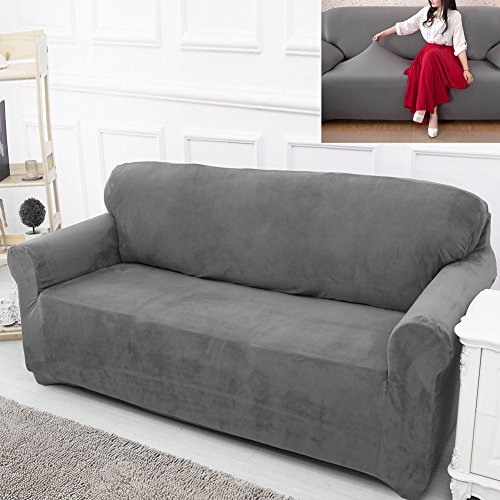 bluecookies-stretch-loveseat-slipcover-1-piece-elastic-fabric-couch-cover-protector-grey