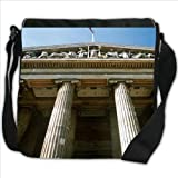 British Museum London with Union Jack Small Denim Shoulder Bag / Handbag