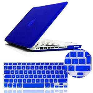 IDACA Blue Frosted Matte Hard Shell Case Cover for Macbook Pro 13 -inch A1278 Aluminum Unibody with Silicone Keyboard Cover Skin Stickers Protector (European Version)