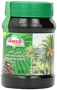 Alwadi Al Akhdar Date Molasses, 24.7-Ounce plastic jar (Pack of 3)