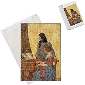 Photo Jigsaw Puzzle of Robert a Clara Schumann from Mary Evans