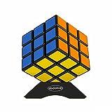 Dodolive 3x3x3 Plastico Rompecabezas Track cubo magico divertido esmerilado Educacion Cubo Magico Puzzle,Negro
