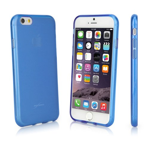BoxWave Arctic Frost iPhone 6 Crystal Slip – Slim Fit Frosted TPU Gel Skin Case for Durable Anti-Slip Protection (Azure Blue)
