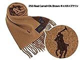 Polo Ralph Lauren ポロ ラルフローレン マフラー 6F0345 253 Real Camel×Dk Brown キャメル×ブラウン [並行輸入品]