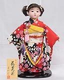 【市松人形】【翠仙作】【日本の人形】花茉莉【市松人形】v1380c【創作市松13号】ケース付き