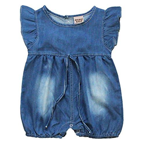 ZOEREA salopette jeans bimba Denim Tutina All in One Tuta Bambina Blu Jean Salopette bambini