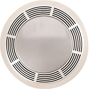 Broan 751 100 cfm bath fan light combo with round grille - Round bathroom exhaust fan with light ...
