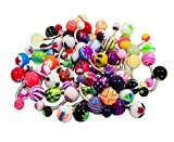 Wholesale Lot of 50Pc 14G Belly Button Navel Rings Piercing Jewelry No Duplicates