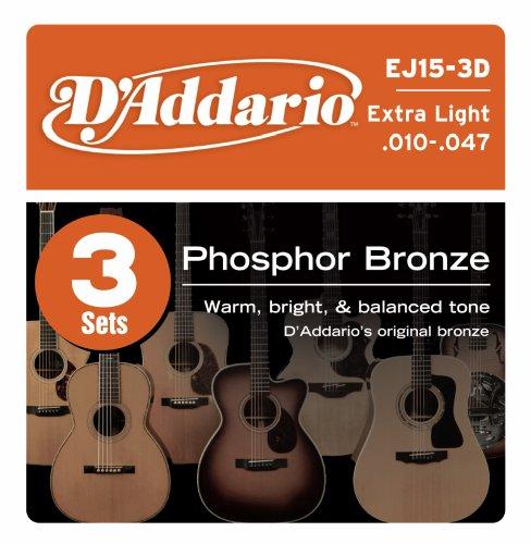 D'Addario EJ15-3D Phosphor Bronze Acoustic Guitar