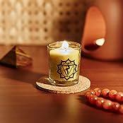Resonance Meditation Candles - Solar Plexus Chakra Natural Wax Voltive Candle