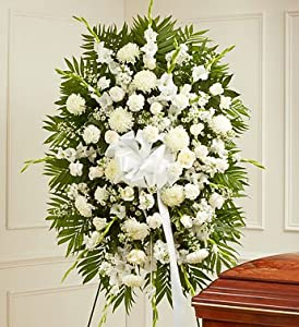 1-800-Flowers - Deepest Sympathies White Standing Spray - Large By 1800Flowers