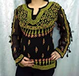 Black Color Jaal embroidery Ladies Top