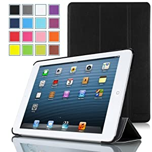 MoKo Ultra Slim Lightweight Smartshell Stand Case for Apple iPad Mini 7.9-Inch Tablet, BLACK (with Smart Cover Auto Wake/Sleep)