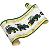 john deere traditional tractor and plaid wallpaper border