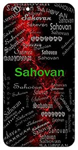 Sahovan (Mighty Superior) Name & Sign Printed All over customize & Personalized!! Protective back cover for your Smart Phone : Apple iPhone 5/5S