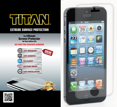 TITAN Anti-Breakage Anti-Scratch Screen Protector for iPhone 5/5S - Frustration-Free Packaging - Clear at Sears.com
