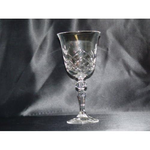 Bohemian Handmade 24% Lead Crystal Wine Glasses Czech