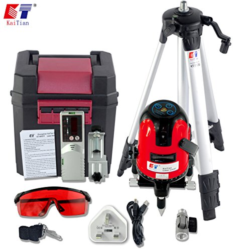 kaitian-2-lines-laser-level-self-leveling-rotary-lasers-with-tripod-and-receiver-detector-combo-set