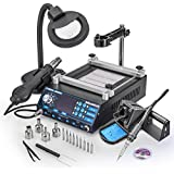 New & Improved 2016 X-Tronic MODEL 5040-XR2 All In One Hot Air Rework Soldering Iron Station With Preheater. Now Includes Plug & Play Hot Air Gun With High Quality Iron Holder & Sponge Cleaner