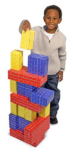 Melissa & Doug Extra-Thick Cardboard Building Blocks - 24 Blocks in 3 Sizes