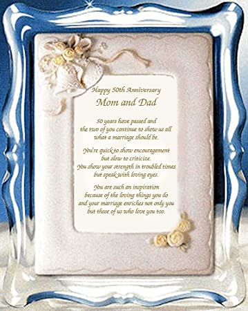 Mom And Dad 50th Anniversary GiftParents Golden Poem