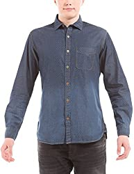 Shuffle Men's Casual Shirt (8907423013063_2021535401_Large_Indigo)