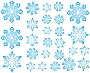 Amazon.com : Christmas Snowflakes Repositional and Removable Wall