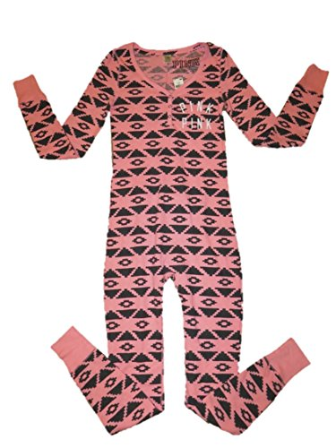 Victorias Secret Pink Onesie Pajamas Small Pink Aztec Shopswell