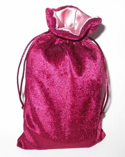 Rune/tarot Bag: Burgundy Velvet and Rose Satin Bag