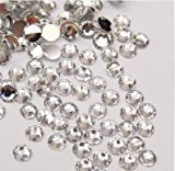 1440pcs Flat Back Rhinestones Round Brilliant 14 Cut 3mm - 10ss Clear