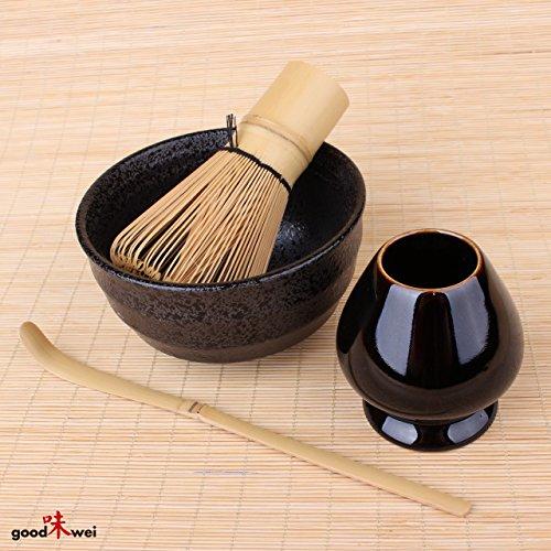 Ensemble à thé Matcha - Tasse à thé Matcha en ceramiqe, Chasentate, fouet et cuillière en bambou
