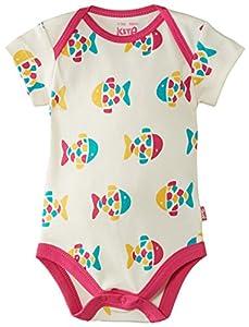 Kite Fishy bodysuit - Camiseta manga corta, con manga corta, con cuello redondo para bebé-niños