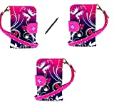 Gr8value samsung S3mini i8190 pu leather magnetic flip case cover pouch free+ stylus (purple butterfly book)