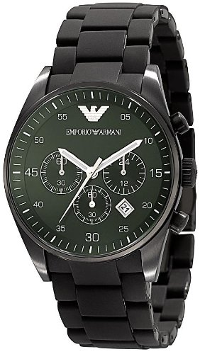 Emporio Armani Quartz Chronograph Green Dial Men's Watch AR5922