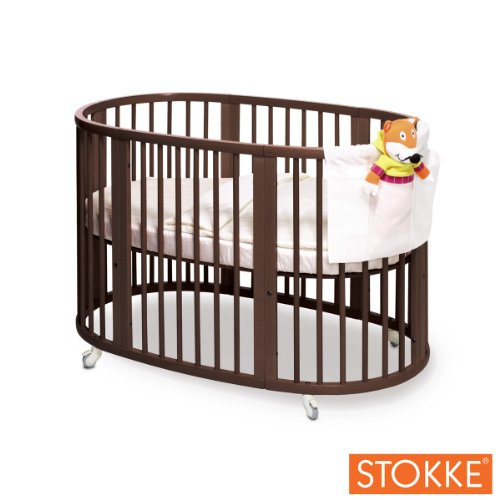 Stokke Sleepi Crib, Walnut Brown front-940603