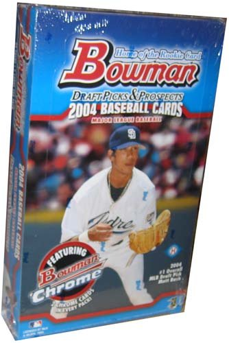 2004 Bowman & Chrome Draft Picks Baseball Hobby Box(24 packs/box)