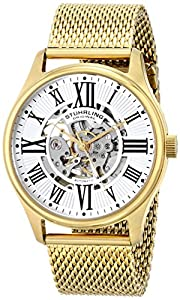 Stuhrling Original Men's 747M.04 Classic Atrium Elite Analog Display Automatic Self Wind Gold Watch