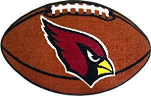 FANMATS NFL Arizona Cardinals Nylon Face Football Rug by Fanmats
