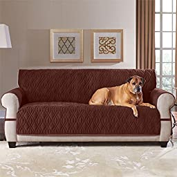 Brylanehome Plush Pet Extra Long Sofa Cover (Chocolate,0)