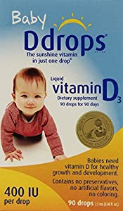 Ddrops Baby 400 Iu Vitamin D3 Drops, 90 Count (pack of 3)
