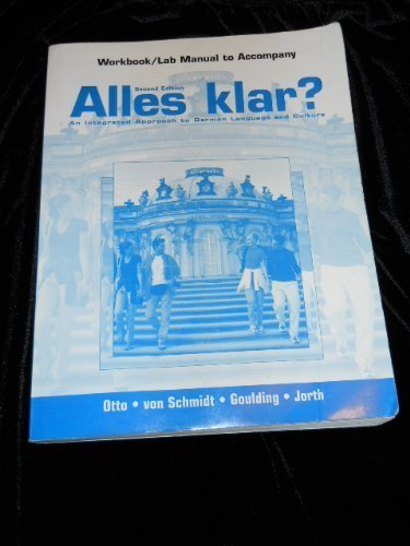 Workbook/Lab Manual to Accompany Alles Klar